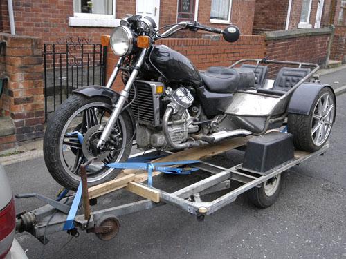Trike on trike trailer